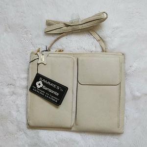 Vintage Samsonite Leather Crossbody Bag NWT